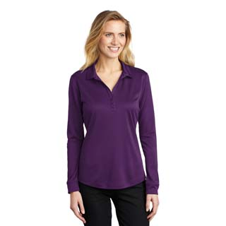 L540LS - L540LS - Port Authority Ladies Silk Touch Performance Long Sleeve Polo
