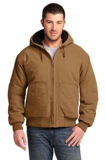 CSJ41 - CSJ41 - CornerStone Washed Duck Cloth Insulated Hooded Work Jacket